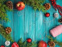 Achtergrond van het Kerstmis de donkergroene kader Royalty-vrije Stock Afbeelding