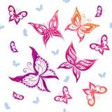 Achtergrond van het kleurrijke vlinders vliegen Stock Afbeelding