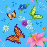 Achtergrond van het kleurrijke vlinders vliegen Royalty-vrije Stock Afbeelding