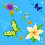 Achtergrond van het kleurrijke vlinders vliegen Stock Foto