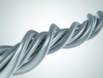 Achtergrond van het het koordkunstwerk van het aluminium de abstracte Royalty-vrije Stock Fotografie