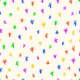 Achtergrond van het krabbel de naadloze patroon Royalty-vrije Stock Afbeeldingen