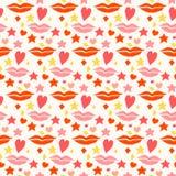 Achtergrond van het liefde de naadloze patroon De dag en het huwelijksth van Valentine Stock Foto's