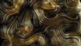 Achtergrond van het lijn de Abstracte gouden ronde netwerk stock videobeelden