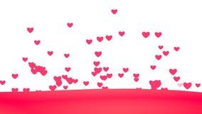 Achtergrond van het lijn de Creatieve vliegende Hart Verbonden drijvende harten stock footage