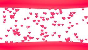 Achtergrond van het lijn de Creatieve vliegende Hart Verbonden drijvende harten stock video