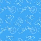 Achtergrond van het megafoon de naadloze patroon Stock Afbeelding