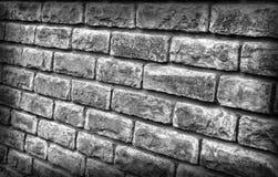 Achtergrond van het metselwerk in zwart-witte tonen stock foto's