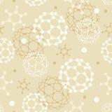 Achtergrond van het molecules de naadloze patroon Royalty-vrije Stock Fotografie