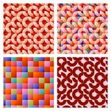 Achtergrond van het mozaïek de naadloze patroon Stock Afbeeldingen