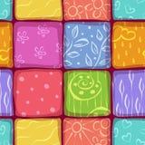 Achtergrond van het mozaïek de naadloze patroon Stock Afbeelding