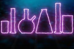 Achtergrond van het neon de roze laboratorium vector illustratie