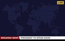 Achtergrond van het het Nieuwsscherm van TV de Brekende Vector Royalty-vrije Stock Afbeelding