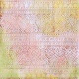 Achtergrond van het Ontwerp van de Batik van Artisti de Bloemen stock illustratie