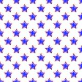 Achtergrond van het ster de Naadloze Patroon Stock Foto