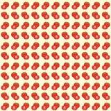 Achtergrond van het tomaten de naadloze patroon Vector Illustratie