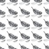 Achtergrond van het veren de naadloze patroon Stock Foto