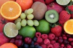 Achtergrond van het vers Fruit de Super Voedsel stock afbeelding