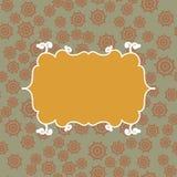 Achtergrond van het Yelllow de uitstekende naadloze patroon Vectorillustratie eindeloos ontwerp Abstract geometrisch frame stylis Royalty-vrije Stock Foto's