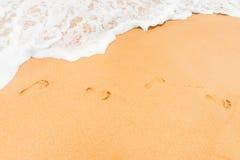 Achtergrond van het zand de schone strand Stock Foto's