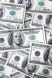 Achtergrond van honderd dollars royalty-vrije stock foto's