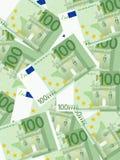 Euro achtergrond honderd Royalty-vrije Stock Foto's