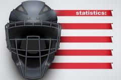 Achtergrond van Honkbalstatistieken Royalty-vrije Stock Foto
