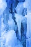 Achtergrond van ijs en ijskegels Stock Foto