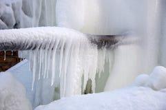 Bevroren waterstralen. stock fotografie