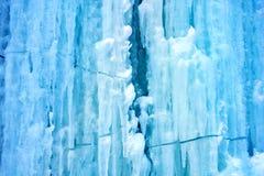 Achtergrond van ijs van blauwe kleur Stock Afbeelding
