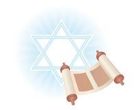 Achtergrond van Joodse vakantie Simchat Torah Stock Afbeeldingen