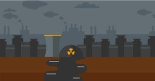 Achtergrond van kernenergieinstallatie Royalty-vrije Stock Afbeelding