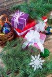 Achtergrond 07 van Kerstmis Stock Foto's