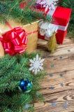 Achtergrond 11 van Kerstmis Royalty-vrije Stock Fotografie