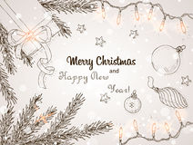 Achtergrond 2 van Kerstmis Stock Afbeelding