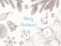 Achtergrond 5 van Kerstmis Stock Foto
