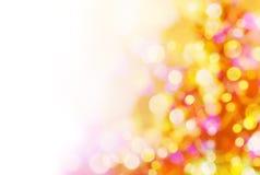 Achtergrond van Kerstmislichten Stock Afbeeldingen