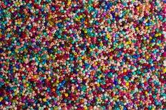 Achtergrond van kleurenparels Stock Afbeelding