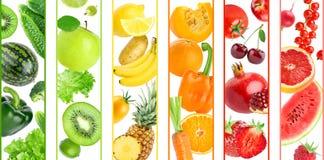 Achtergrond van kleurenvruchten en groenten royalty-vrije illustratie