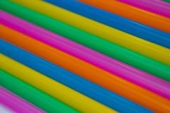 Achtergrond van Kleurrijk Stro Royalty-vrije Stock Afbeeldingen