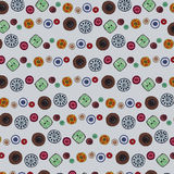 Achtergrond van kleurrijke knopen Stock Illustratie