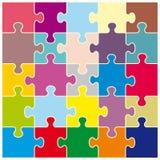 Achtergrond van kleurrijke raadsels Stock Foto