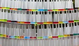 Achtergrond van kleurrijke zakken Stock Fotografie