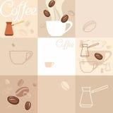 Achtergrond van koffie Stock Foto's