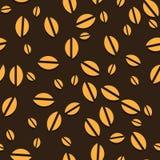 Achtergrond van koffie de vector naadloze bonen. Stock Foto