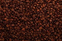Achtergrond van koffiebonen Royalty-vrije Stock Foto's