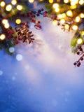 Achtergrond van kunst de sneeuwkerstmis; Stock Foto