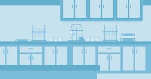 Achtergrond van laboratoriumbinnenland Royalty-vrije Stock Foto's