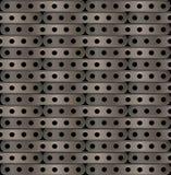 Achtergrond van lange platen met gaten in steampunk Stock Afbeelding