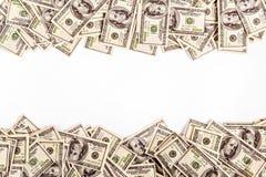 Achtergrond van $-100 met ruimte voor tekst Stock Afbeeldingen